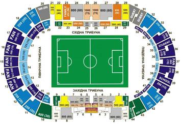 Stadion Metalist Harkov. scheme stadium metallist. scheme stadiums metallis Harkov